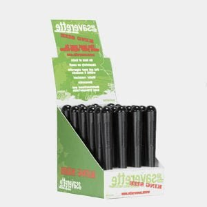 Saverette - Kingsize black joint holders 110mm (24pcs/display)