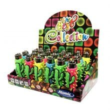 Atomic silicon cover 3D lighters cactus (24pcs/display)