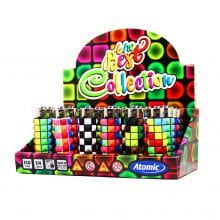 Atomic silicon cover 3D lighters disco mood (24pcs/display)