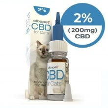 Cibapet 2% CBD oil for cats (200mg CBD)