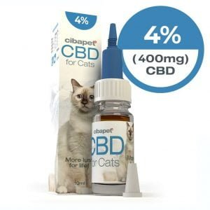 Cibapet 4% CBD oil for cats (400mg CBD)