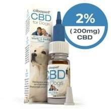Cibapet 2% CBD oil for dogs (200mg CBD)