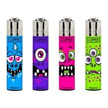 Clipper™ Monster Faces lighters (24pcs/display)