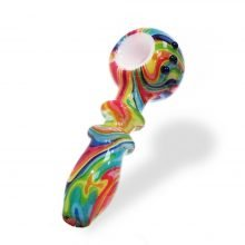 Abstract Fluid Colors Glass Pipe