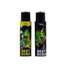 Clipper™ & Best Buds lighter with built-in grinder case 2 (22pcs/display)