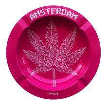 Best Buds - Pink Weed Leaf Metal Ashtray
