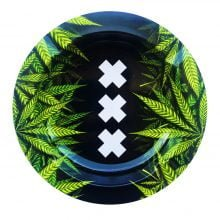 Best Buds - XXX Amsterdam Weed Leaves Metal Ashtray
