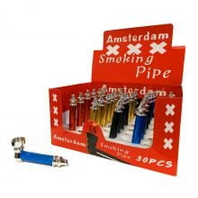 Amsterdam XXX colorful metal pipes (30pcs/display)