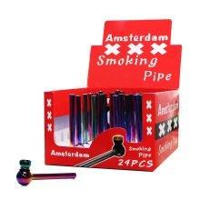 Rainbow amsterdam metal pipes (24pcs/display)