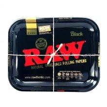 RAW – Black Large Metal Rolling Tray