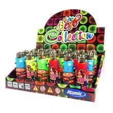 Atomic Silicon Cover 3D Lighters Mushrooms Cool 3 (24pcs/display)