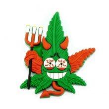 Hempy the Devil Silicon Cannabis 3D Magnet