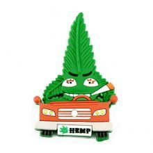 Hempy the Driver Silicon Cannabis 3D Magnet