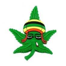 Hempy Rasta Leaf Silicon Cannabis 3D Magnet